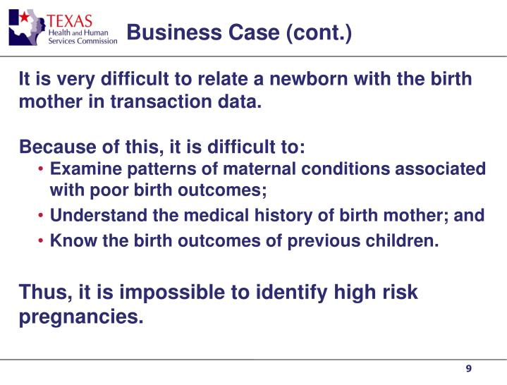Business Case (cont.)