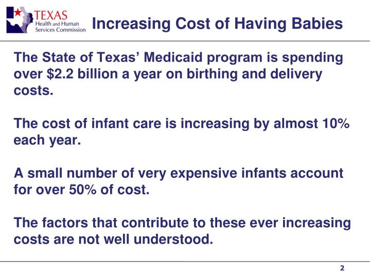 Increasing Cost of Having Babies