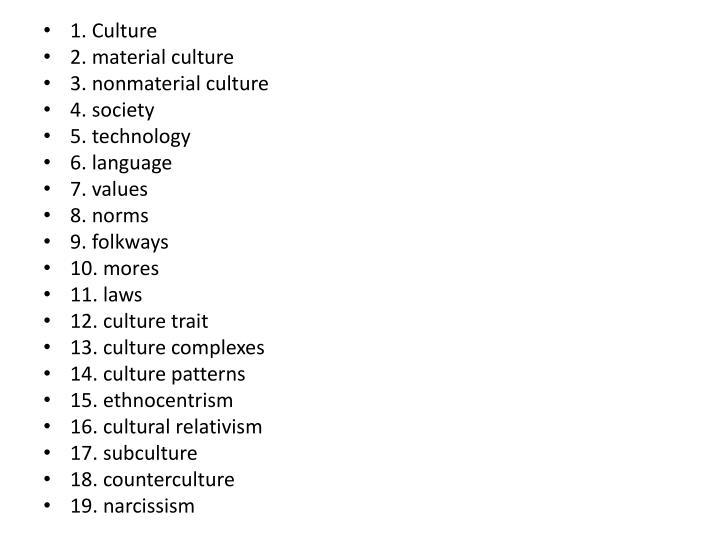 1. Culture