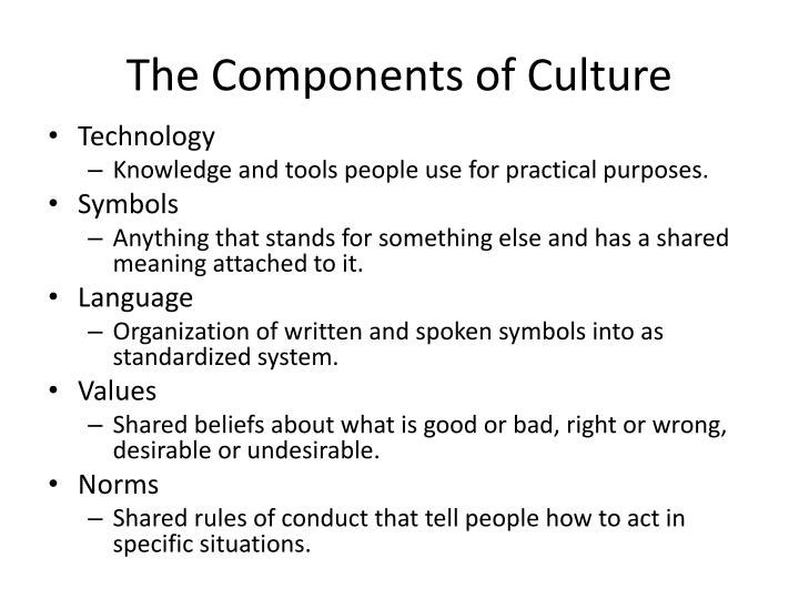 The Components of Culture