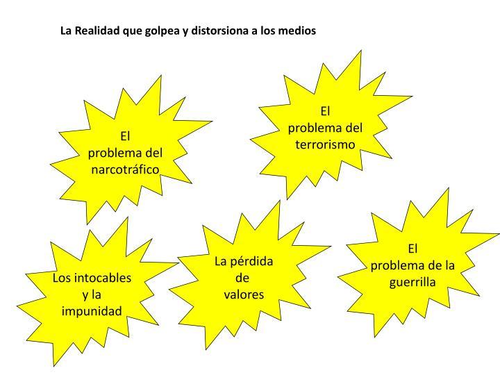 La Realidad que golpea y distorsiona a los medios