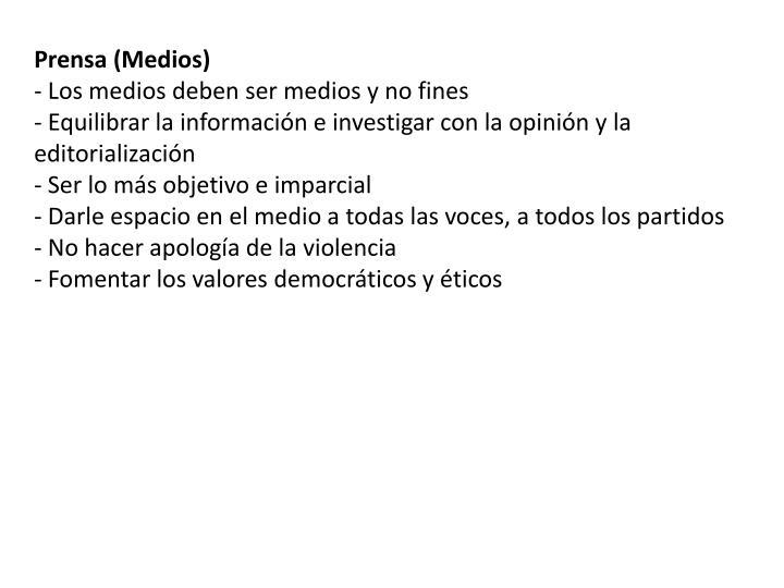Prensa (Medios)