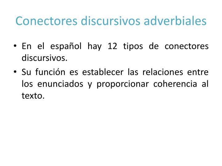 Conectores discursivos adverbiales