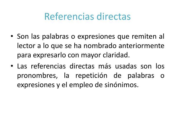 Referencias directas
