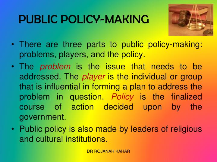 PUBLIC POLICY-MAKING