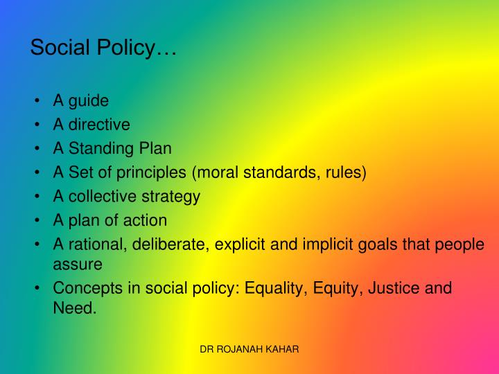 Social Policy…