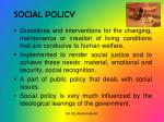 social policy1
