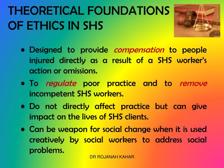 THEORETICAL FOUNDATIONS OF ETHICS IN SHS