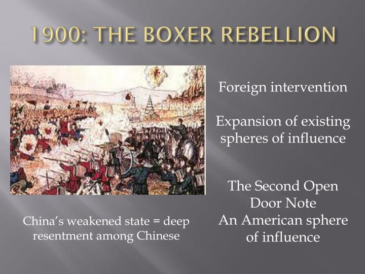 1900: THE BOXER REBELLION