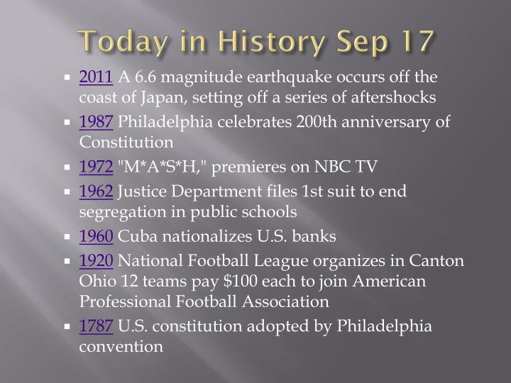 Today in history sep 17