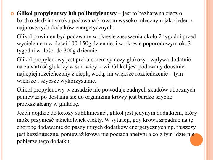 Glikol propylenowy lub
