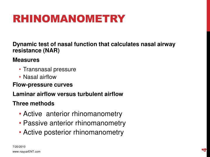 Rhinomanometry