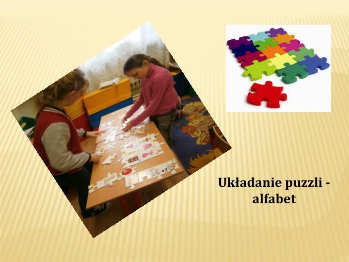 Układanie puzzli - alfabet
