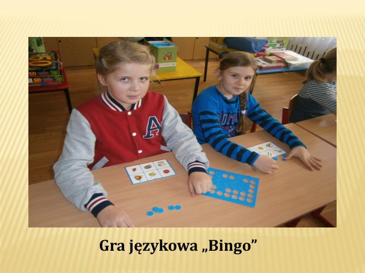 """Gra językowa """"Bingo"""""""