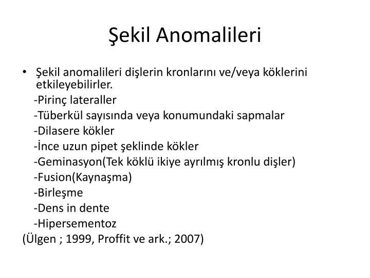 Şekil Anomalileri