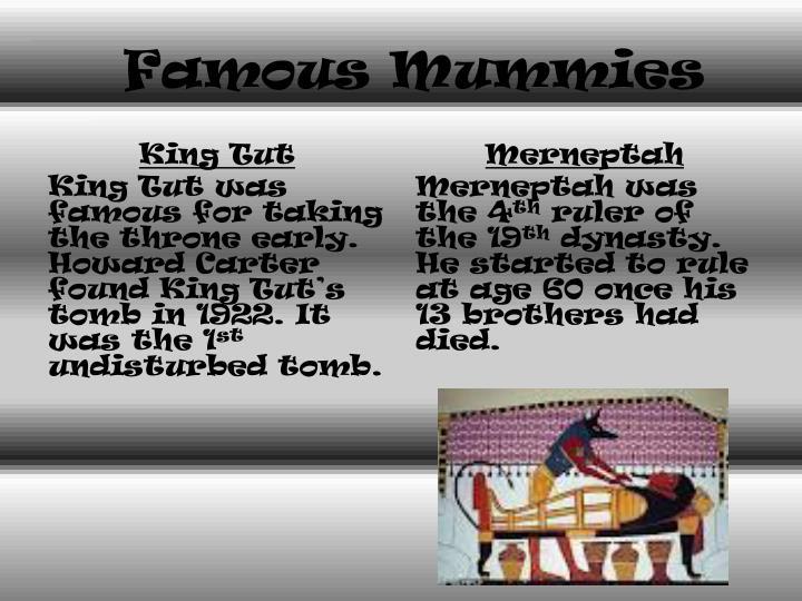 Famous Mummies