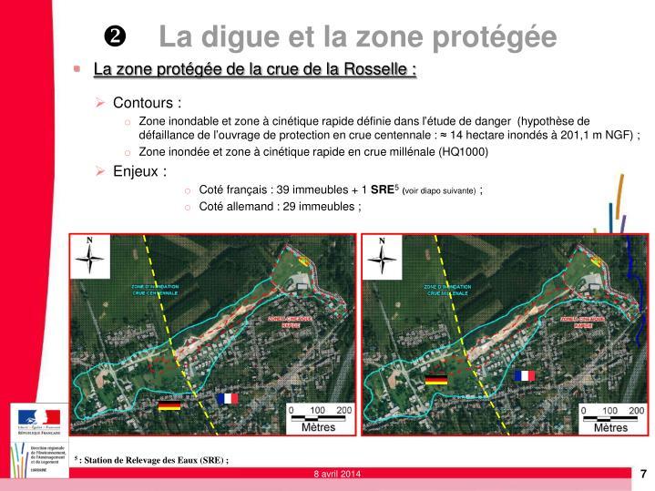 La zone protégée de la crue de la Rosselle :