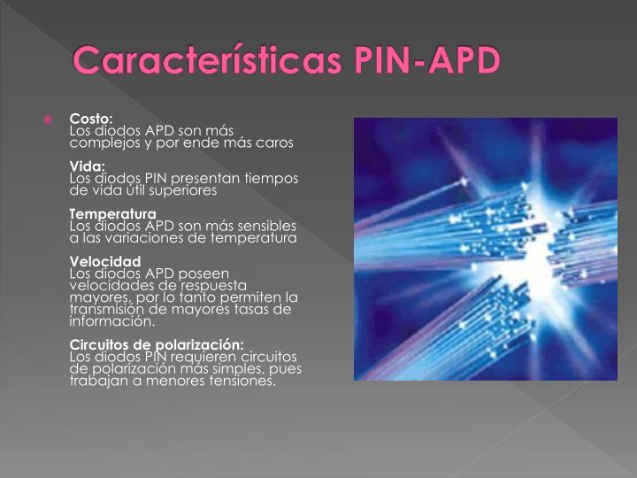 Características PIN-APD