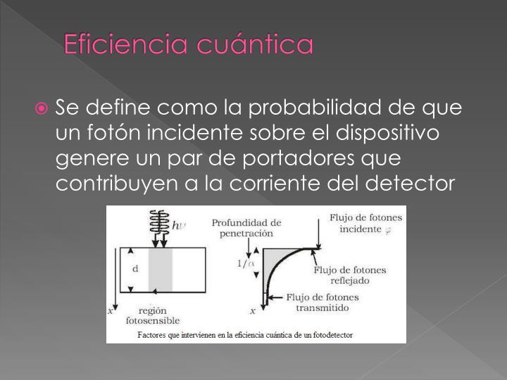 Eficiencia cuántica