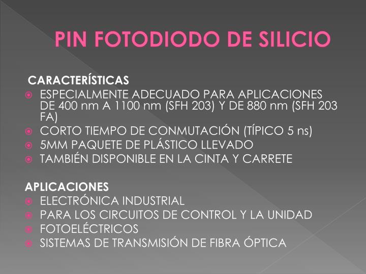 PIN FOTODIODO DE SILICIO