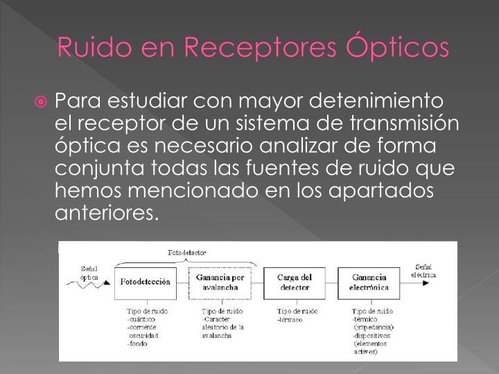 Ruido en Receptores Ópticos
