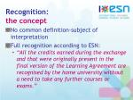 recognition the concept