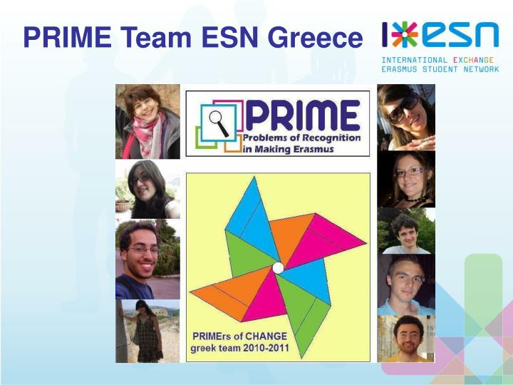 PRIME Team ESN Greece