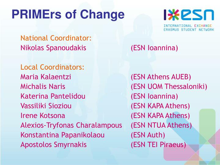 PRIMErs of Change