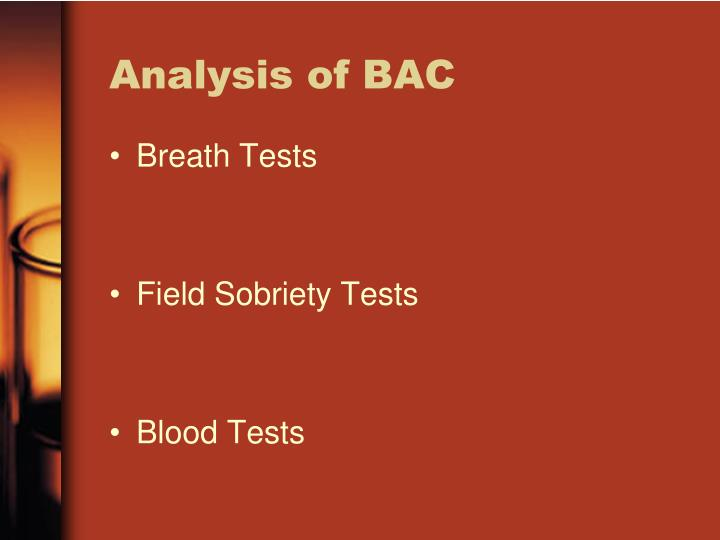 Analysis of BAC