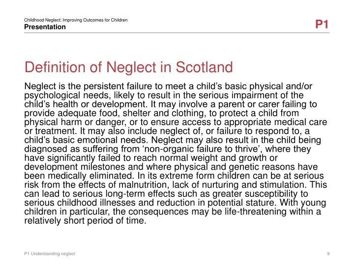 Definition of Neglect in Scotland