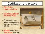 codification of the laws