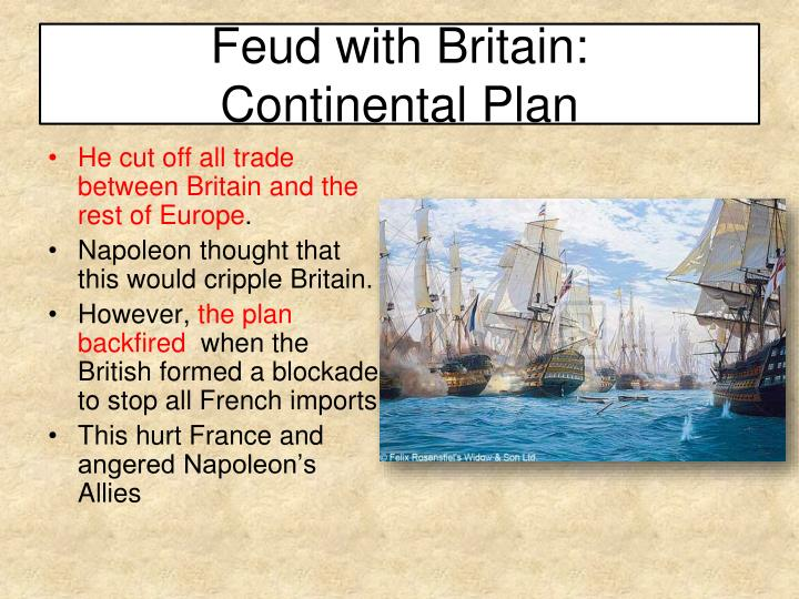 Feud with Britain: