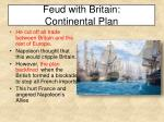 feud with britain continental plan
