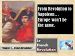 from revolution to napoleon europe won t be the same