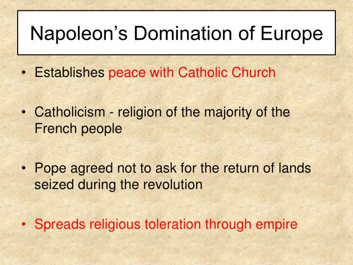 Napoleon's Domination of Europe