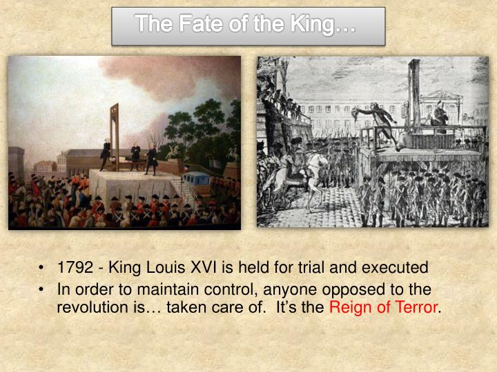The Fate of the King…