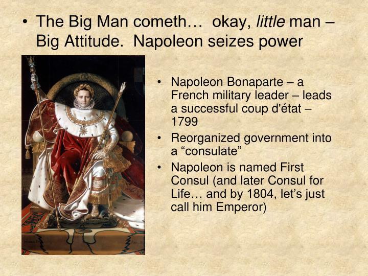The Big Man cometh…  okay,