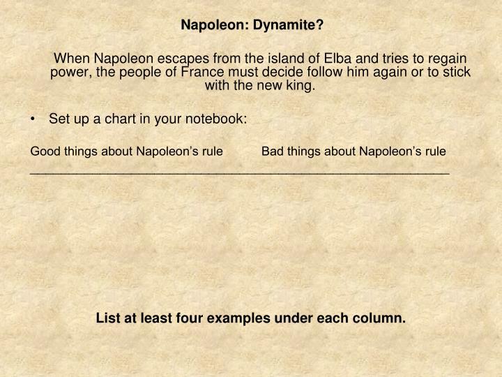 Napoleon: Dynamite?