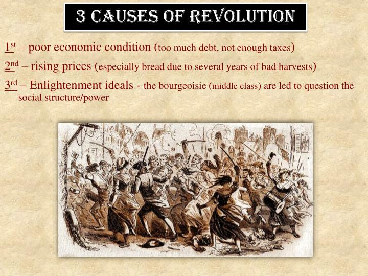3 causes of revolution