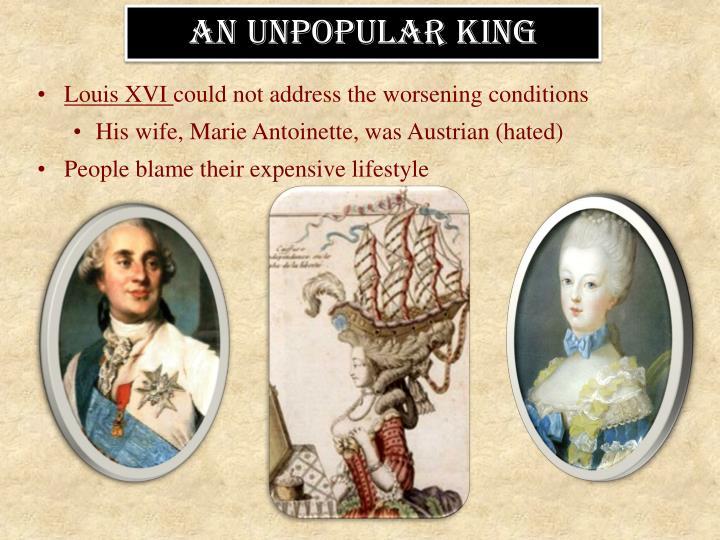 An unpopular king