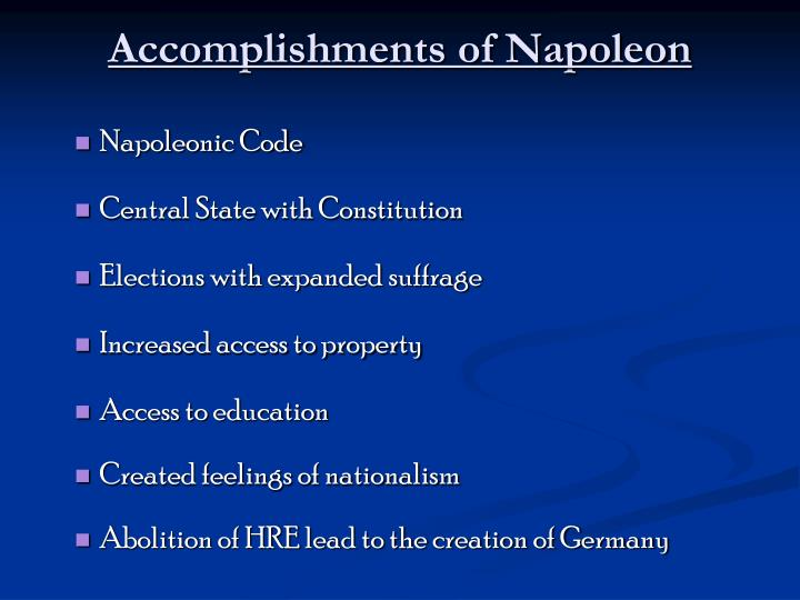Accomplishments of Napoleon