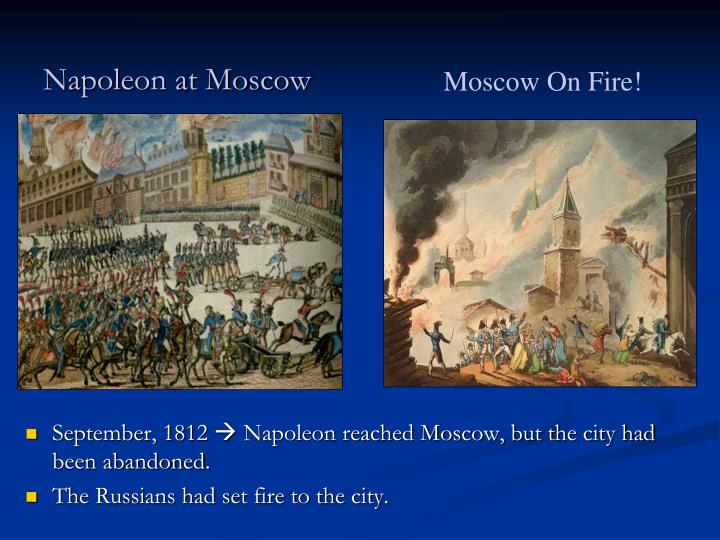 Napoleon at Moscow