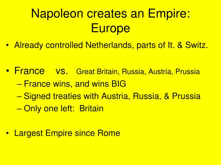 Napoleon creates an Empire: