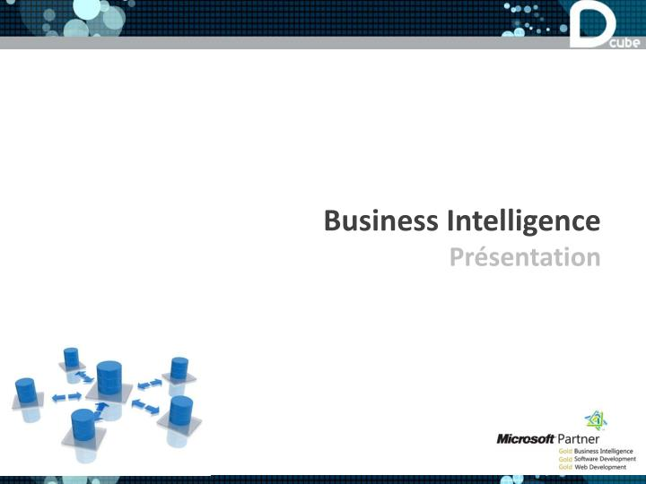 Business intelligence pr sentation