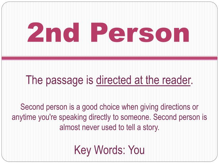 2nd Person