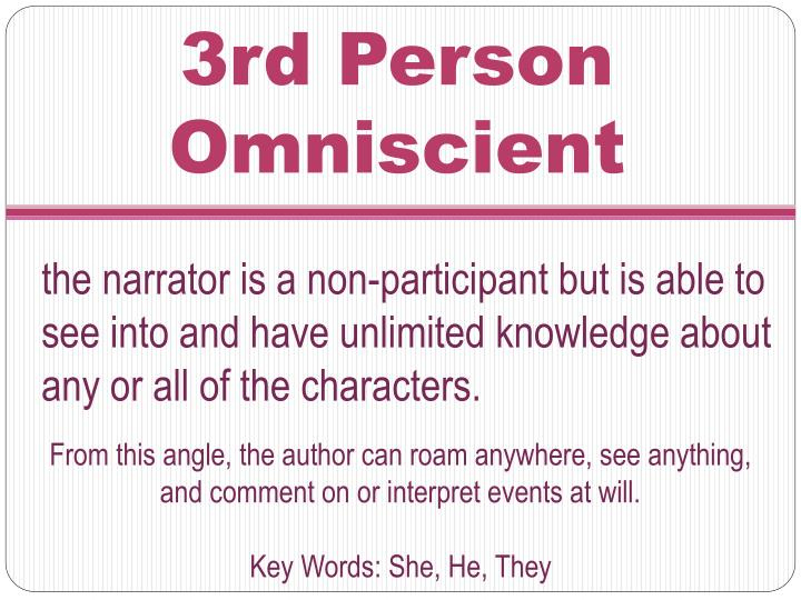 3rd Person Omniscient