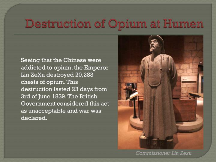 Destruction of Opium