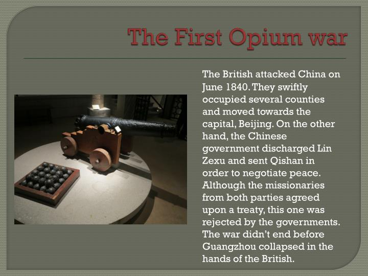The First Opium