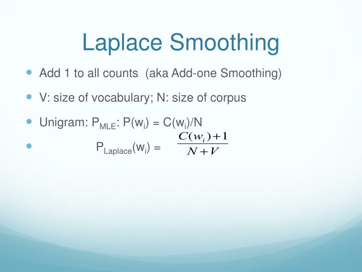 Laplace Smoothing