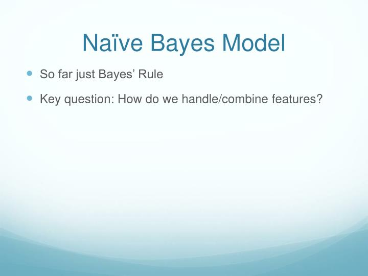 Naïve Bayes Model